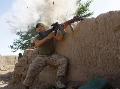 Afghanistan marine close call
