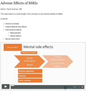 Adverse effects of SSRI's