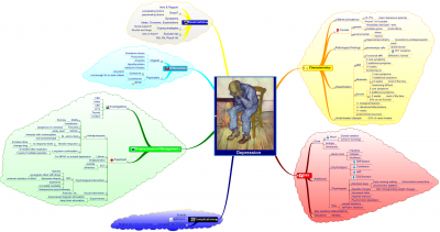 depression mind map medmap