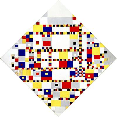 Victory Boogie Woogie by Piet Mondriaan