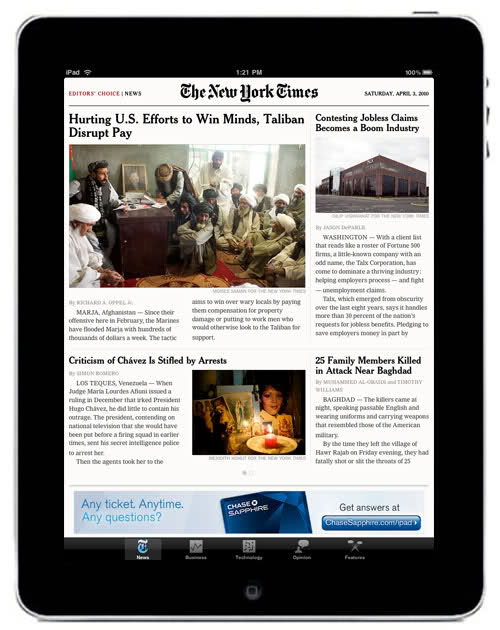 New York Times on iPad