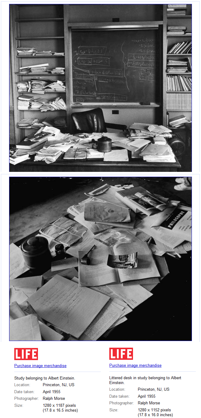 Einstein\'s messy desk