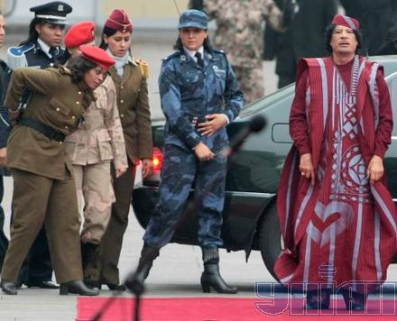 gaddafi female bodyguards2 Moammar Khadafy