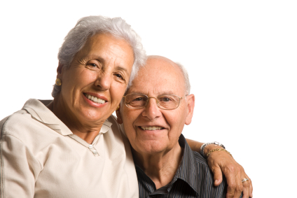 couple gratitude elderly