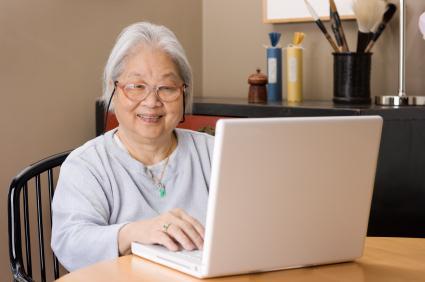 Elderly with computer skills