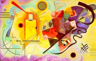 kandinsky red yellow and blue