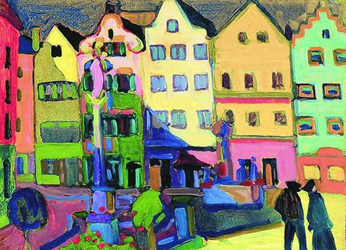Weilheim Marienplatz by Kandinsky